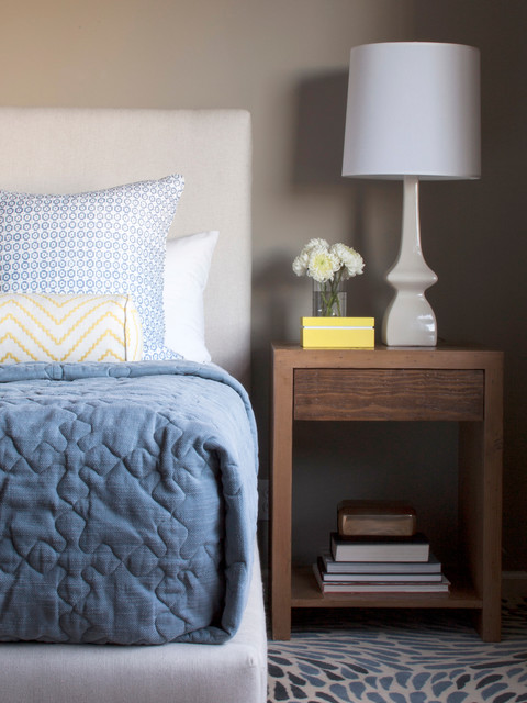 Nightstand Lamps Bedroom Contemporary with Blue and Green Blue