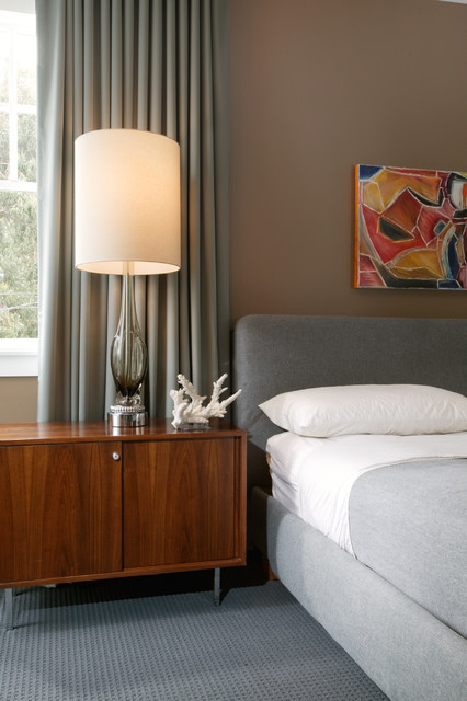 Nightstand Lamps Bedroom Midcentury with Abstract Art Art Bedroom