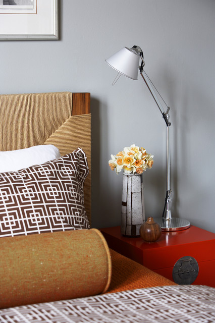 Nightstand Lamps Bedroom Transitional with Bedside Table Bold Colors