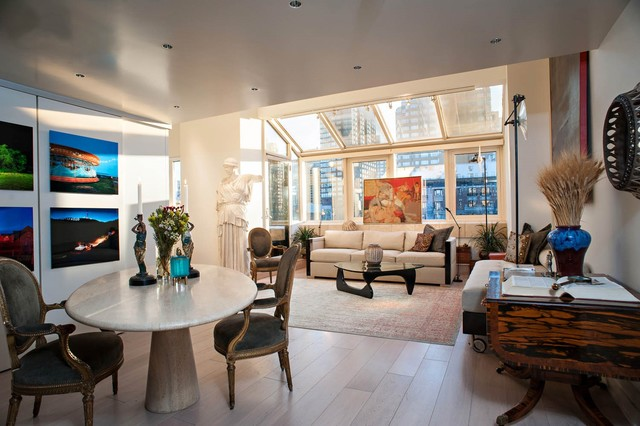 Noguchi Table Living Room Eclectic with Antique Chairs Conservatory Roof