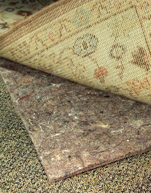 Non Slip Rug Pad Spaces with Carpet Chemical Free Felt