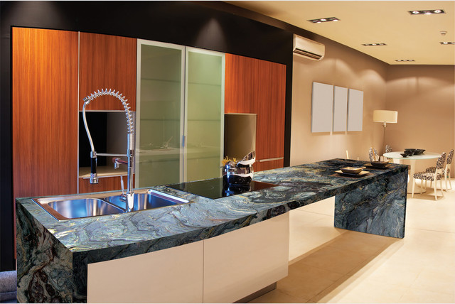 Omicron Granite Kitchen Modern with Bathroomdesign Caesarstone Counters Countertops