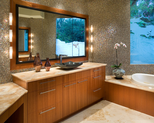 Onyx Countertops Bathroom Asian with African Mahogany Ties Onyx