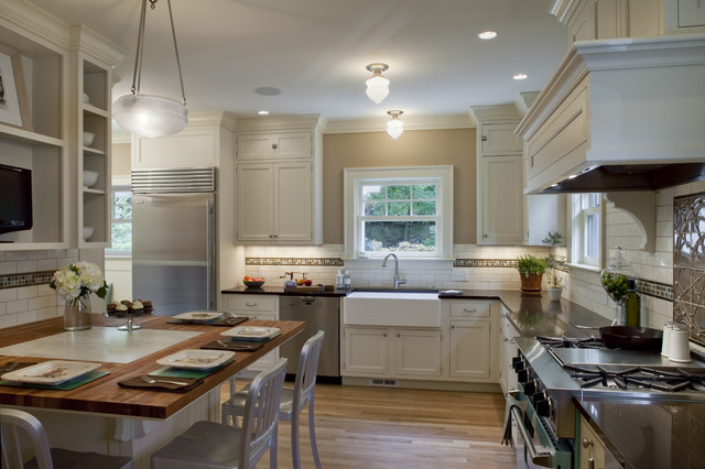 Oregon Tile and Marble Kitchen Traditional with 1920 Colonial Calacutta Marble Honed