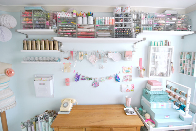 Organizing Bins Home Office Shabby Chic with Art Supplies Boxes Case
