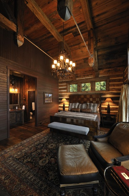 Oversized Chair and Ottoman Bedroom Rustic with Bead Board Beams Bench