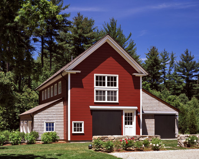 Owens Corning Shingles Garage and Shed Traditional with Barn Large Brown Door