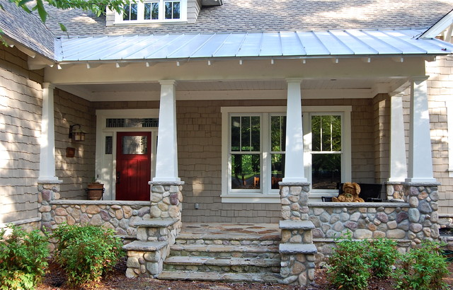 Owens Corning Shingles Porch Traditional with Beige Shingle Exterior Beige
