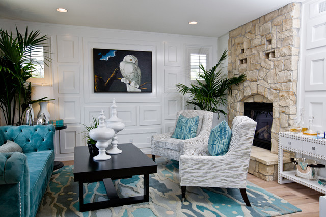 Owl Rug Living Room Contemporary with Black Coffee Table Blue