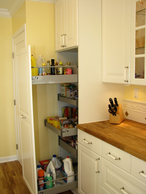 pantry cabinet ikea Kitchen with antique stove butcher block