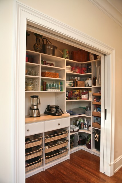Pantry Shelving Systems Kitchen Traditional with Appliance Shelf Converted Closet