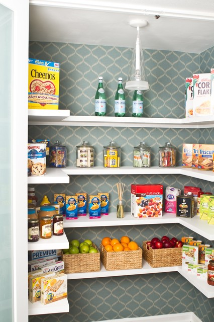 Pantry Shelving Systems Kitchen Transitional with Basket Storage Flos Food