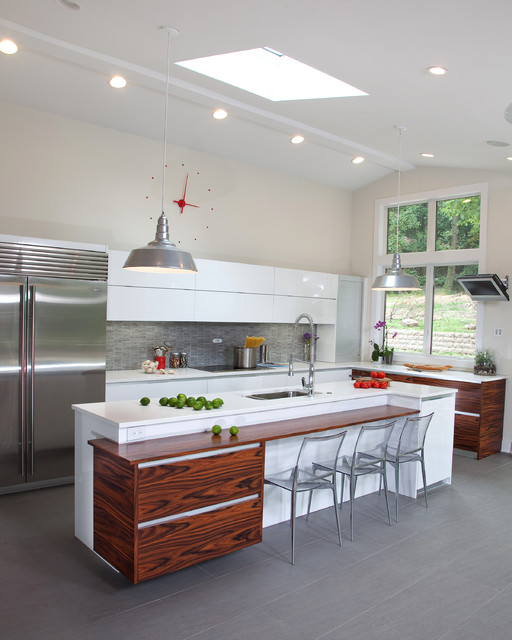 Paramus Lighting Kitchen Contemporary with Beige Wall Caesarstone Contemporary