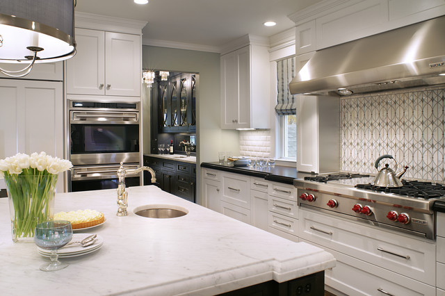 Paramus Lighting Kitchen Transitional with Backsplash Bar Sink Bergen