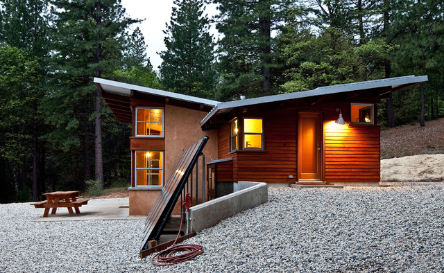 Passive Solar House Plans Exterior Rustic with Arkin Tilt Architects Butterfly