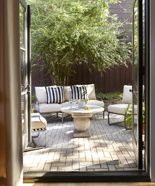 Paver Patterns Patio Contemporary with Brick Paving French Doors