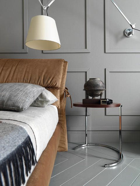 Pebble Junction Bedroom Contemporary with Bedside Table Flip Over