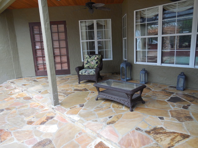 Pebble Junction Patio Traditional with Indoor Outdoor Living Outdoor Entertaining