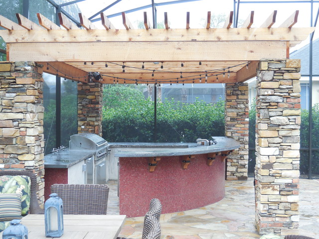 Pebble Junction Pool Modern with Building Stone Flagstone Natural