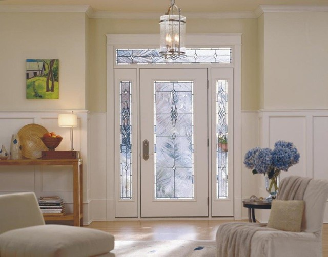 Pella Corporation Entry Contemporary with Canned Glass Full Light