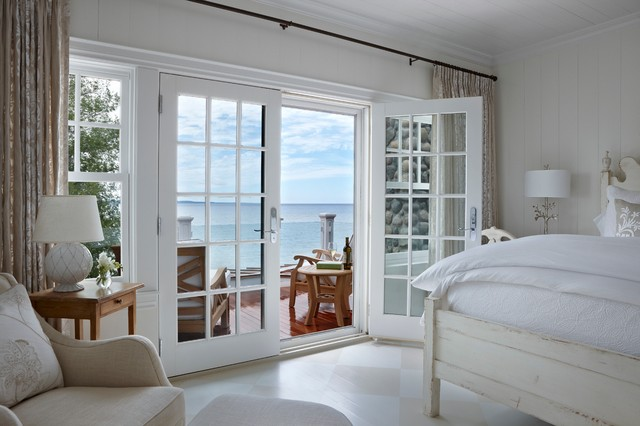 Pella Doors Bedroom Beach with Antique White Balcony Checkered