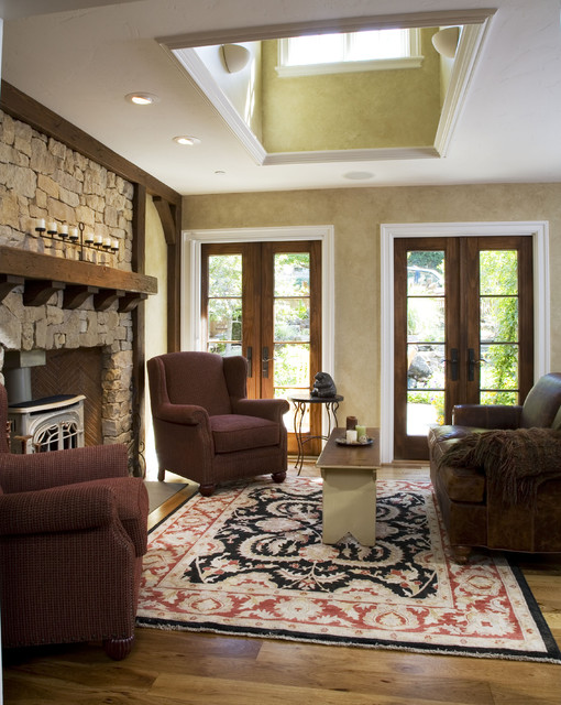 Pella Doors Living Room Traditional with Area Rug Ceiling Lighting