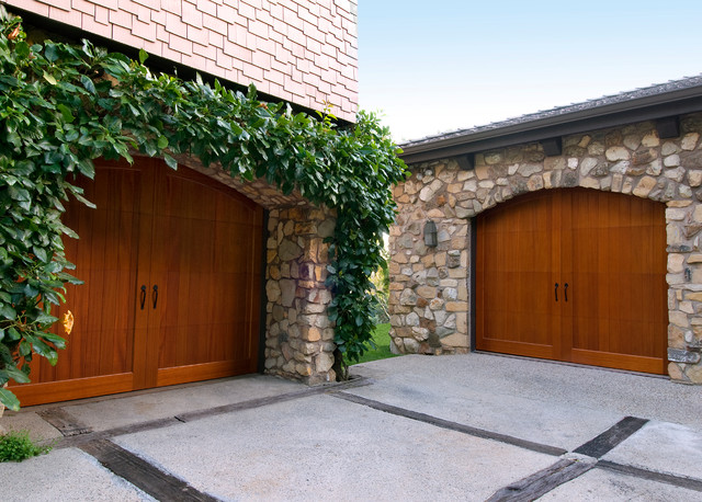 Pella Garage Doors Garage and Shed Traditional with Arched Garage Door Carriage