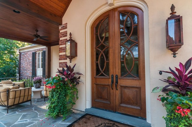 pella patio doors Entry Traditional with arch arched front door