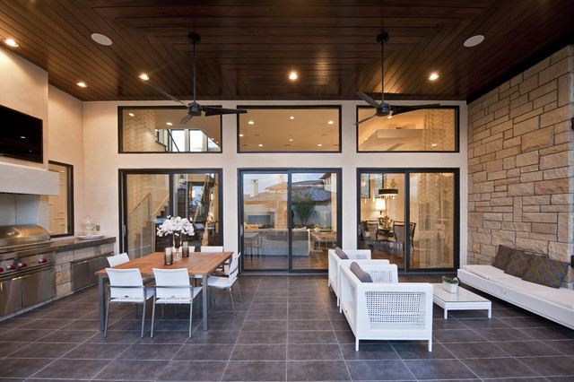 Pella Patio Doors Patio Transitional with Barbecue Ceiling Fan Ceiling