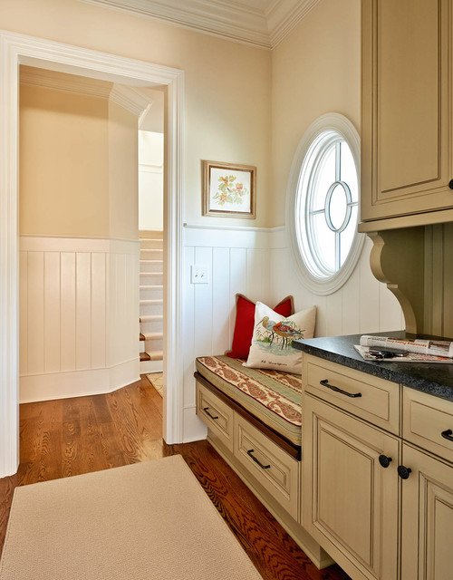 Pella Windows Entry Traditional with Beige Cabinets Beige Drawers