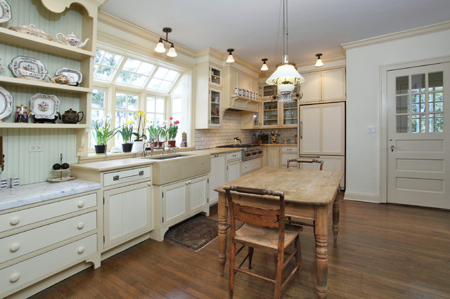 Pella Windows Kitchen Traditional with Bay Window Beige Trim