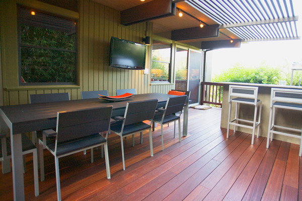 Pergola Canopy Deck Modern with American Made Coastal Outdoor