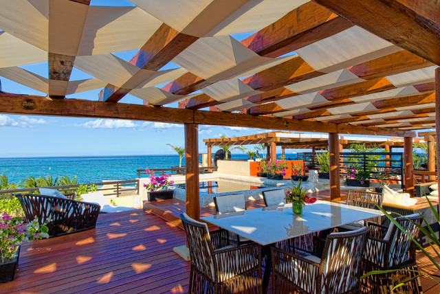 Pergola Canopy Deck Tropical with Cancun Condos Deck Elevated