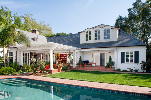 Pergola Plans Exterior Traditional with Arched Windows Back Yard