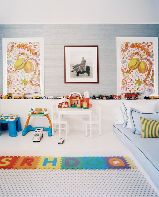 Phillip Jeffries Kids Eclectic with Blue Walls Children Color