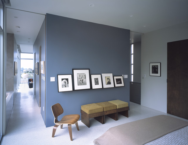 Picture Ledges Bedroom Contemporary with Accent Wall Ceiling Lighting1