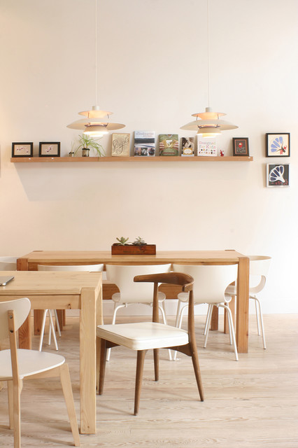 Picture Ledges Dining Room Contemporary with Artwork Dining Table Floating