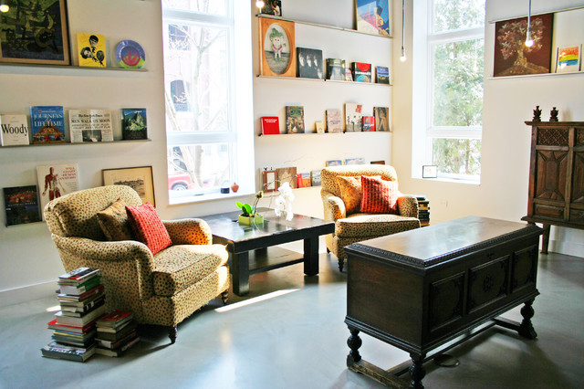 picture ledges Family Room Eclectic with CategoryFamily RoomStyleEclecticLocationChicago