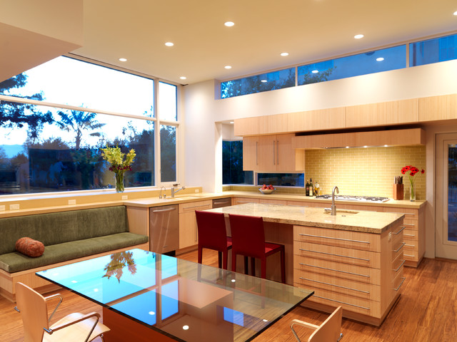 picture-ledges-Kitchen-Modern-with-bamboo-bamboo-cabinets