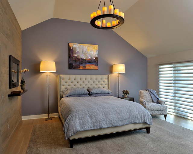 Pillar Candles Bedroom Transitional with Accent Wall Art Bachelor