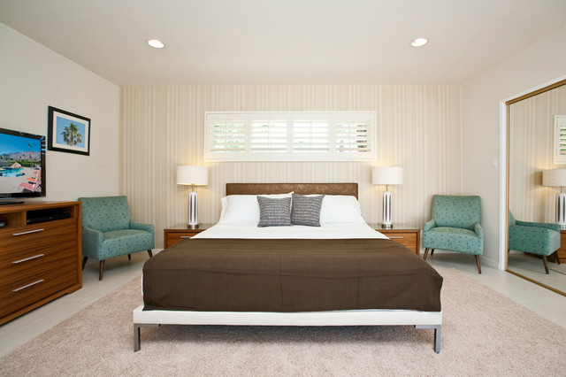 Plantation Blinds Bedroom Modern with Accent Wall Bedroom Bedroom