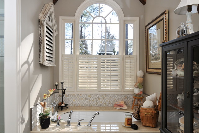 Plantation Shutters Cost Bathroom Shabby Chic with Alcove Bath Accessories Nook