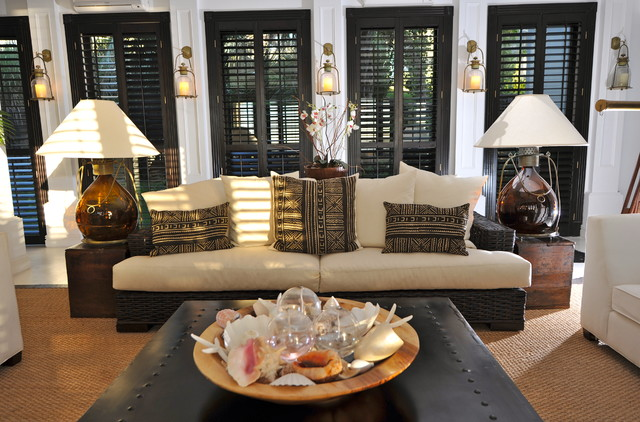 Plantation Shutters Cost Living Room Tropical with Black Shutters Lantern Wall