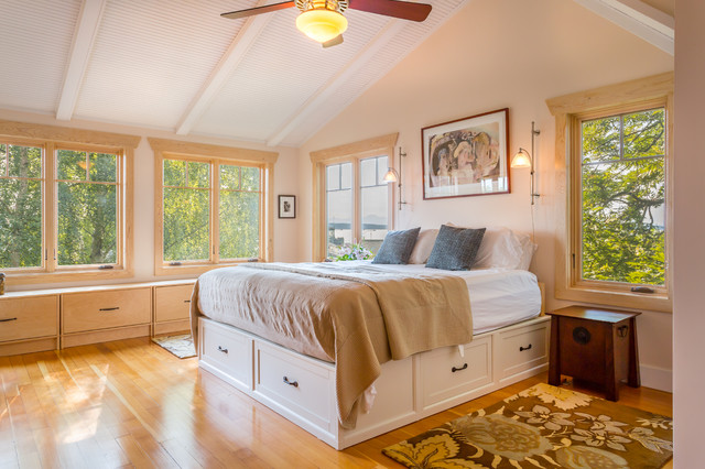 Platform Bed with Drawers Bedroom Beach with Beach House Bench Seat