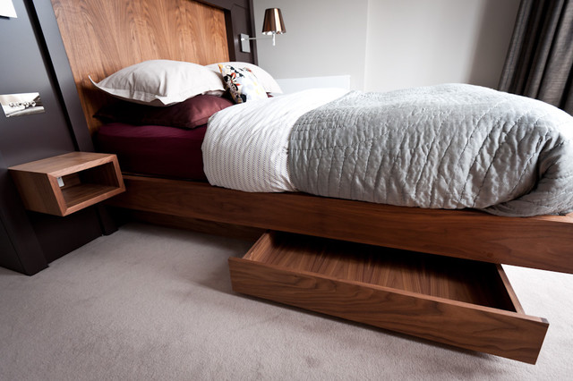 Platform Bed with Drawers Bedroom Contemporary with Categorybedroomstylecontemporarylocationother Metro