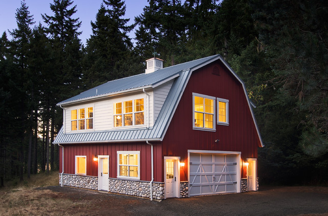 Pole Barn House Plans Exterior Traditional with Barn Board and Batten