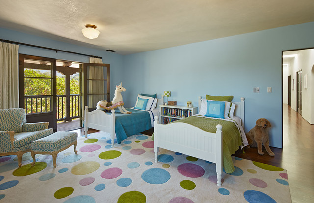 Polka Dot Rug Kids Traditional with Doors to Balcony Fauteuil