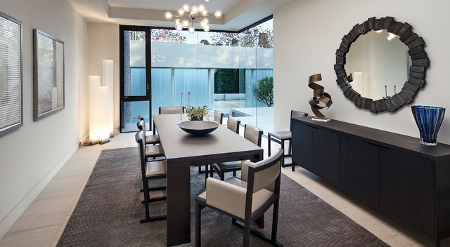 Possini Euro Design Dining Room Contemporary with Buffet Dining Table Glass