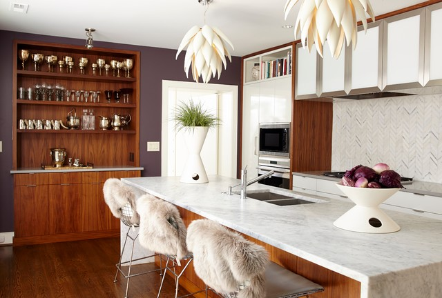 Possini Euro Design Kitchen Contemporary with Bowl Chic Counter Stools