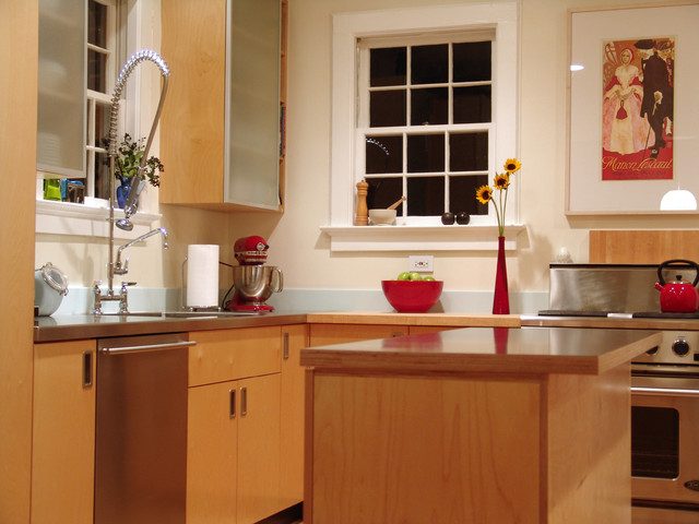 Pot Filler Faucet Kitchen Contemporary with Dishwasher Gas Range Island